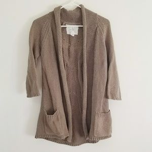 Angel of the North OLIVE GREEN Knit Cardigan SizeS